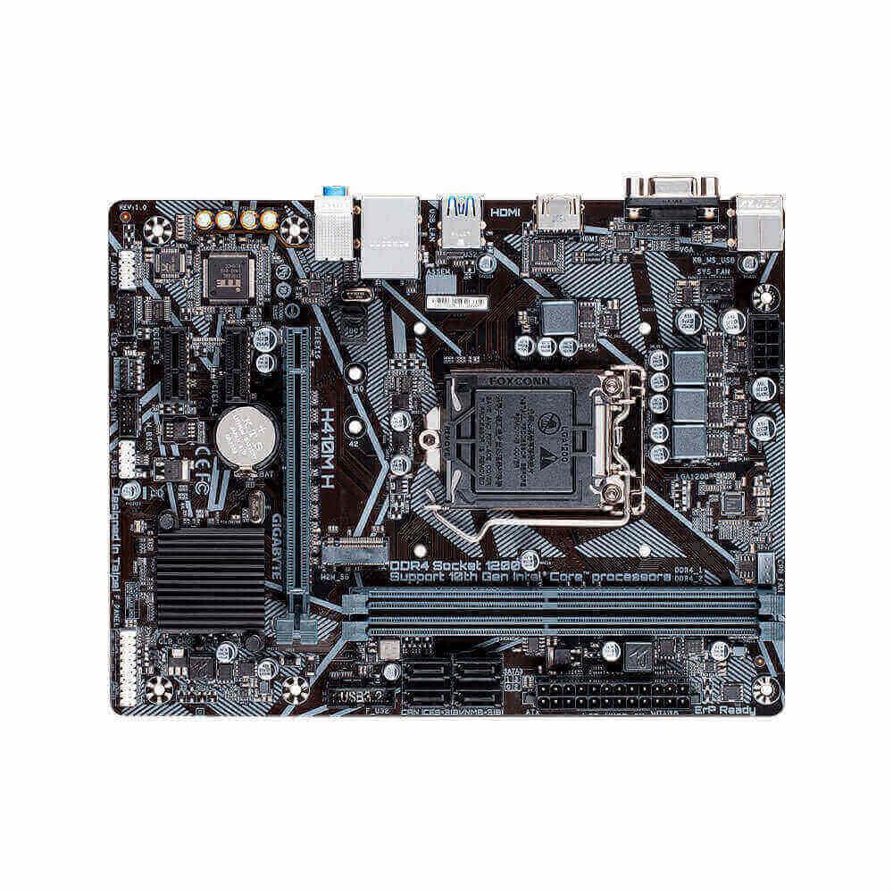 Placa Mãe Gigabyte H410M H Intel 1200 DDR4 MATX M.2 VGA/HDMI