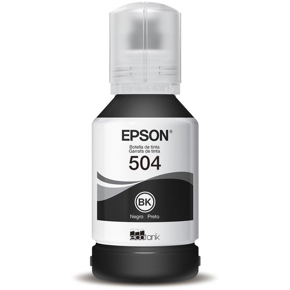 Refil de Tinta Epson 504 Preto T504120-AL 127ML