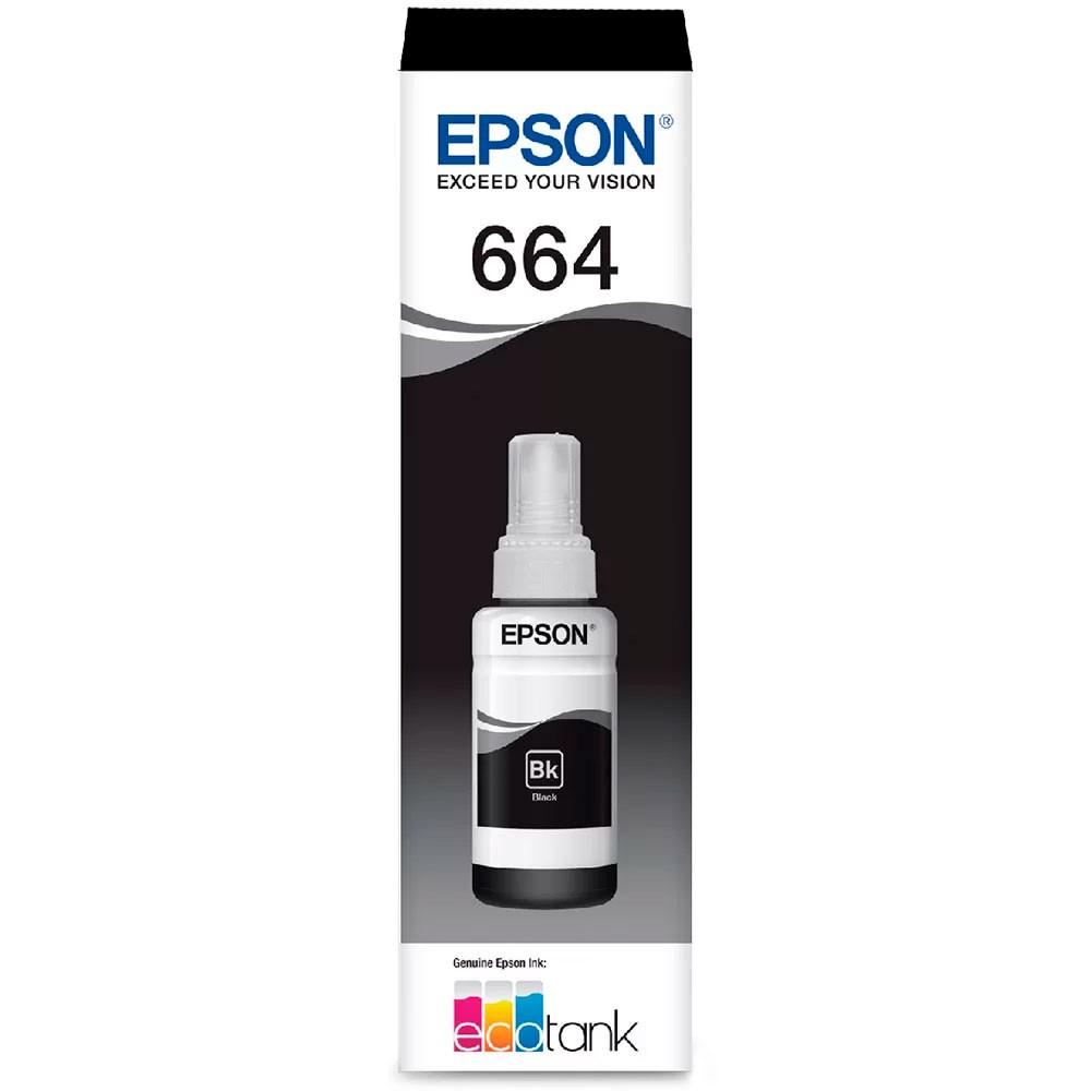 Refil de Tinta Epson 664 Preto T664120-AL 70ML