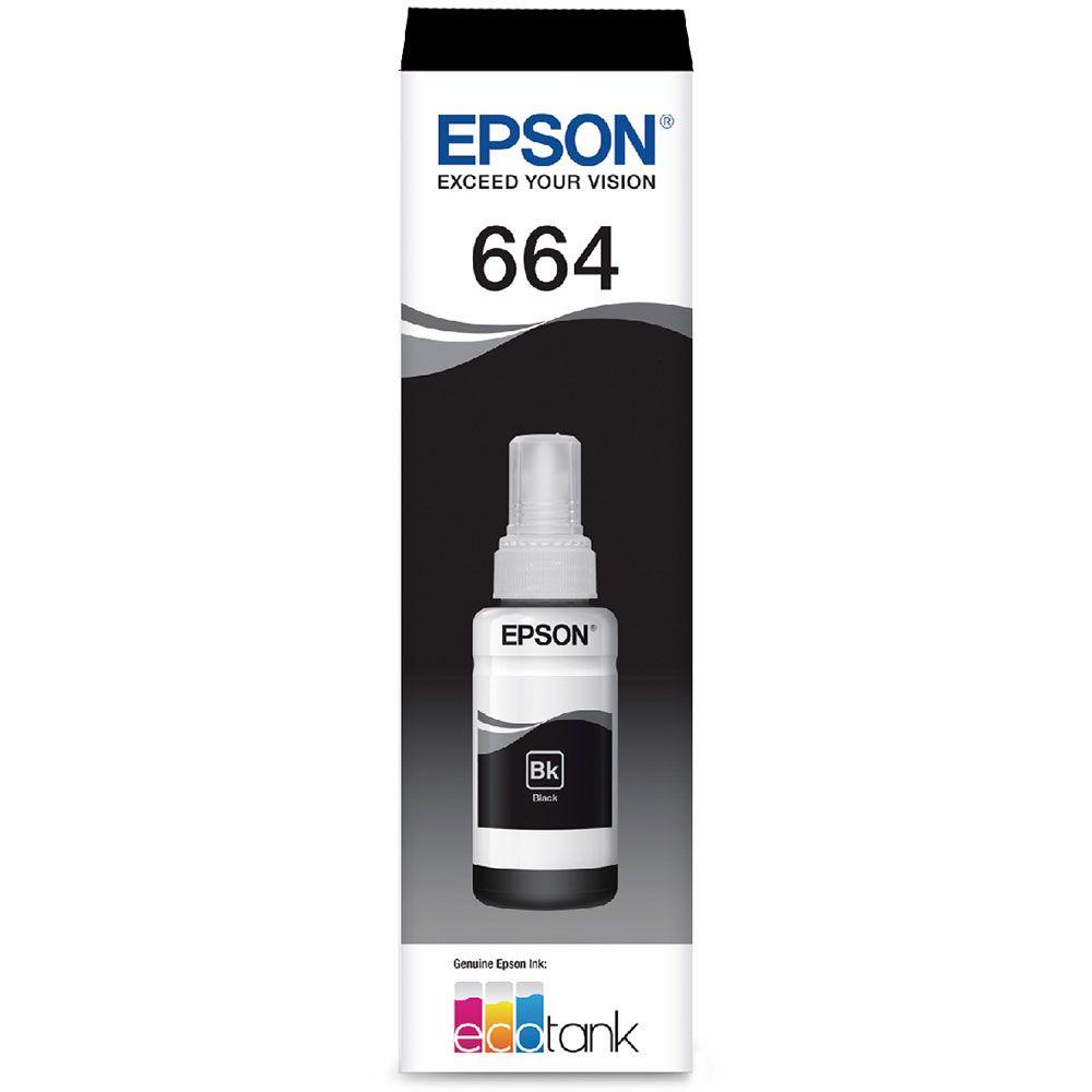 Refil De Tinta Epson T664120 Al Preto