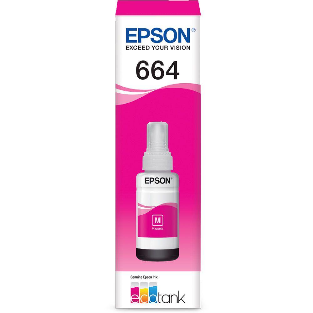 Refil De Tinta Epson T664320 Al Magenta