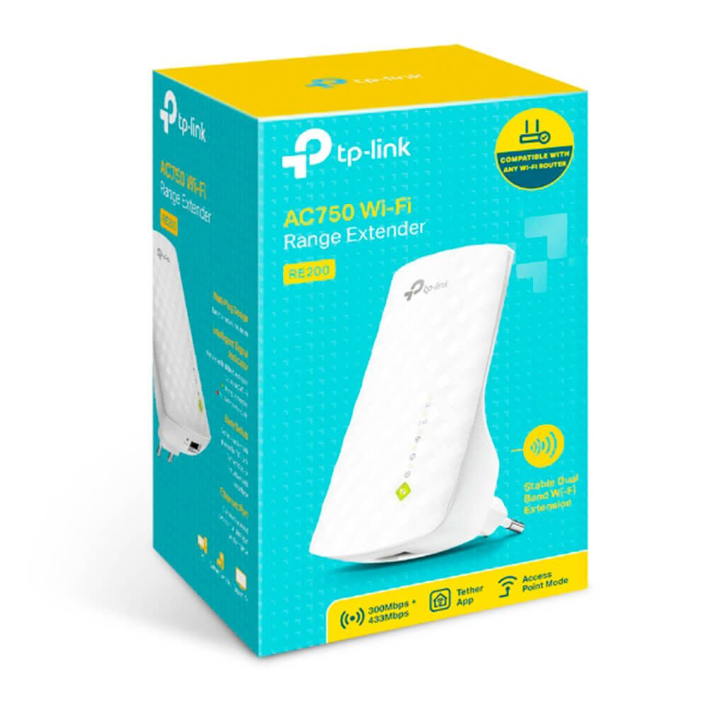 Repetidor TP-Link RE200 AC750 Wireless Dual Band 2,4/5GHZ