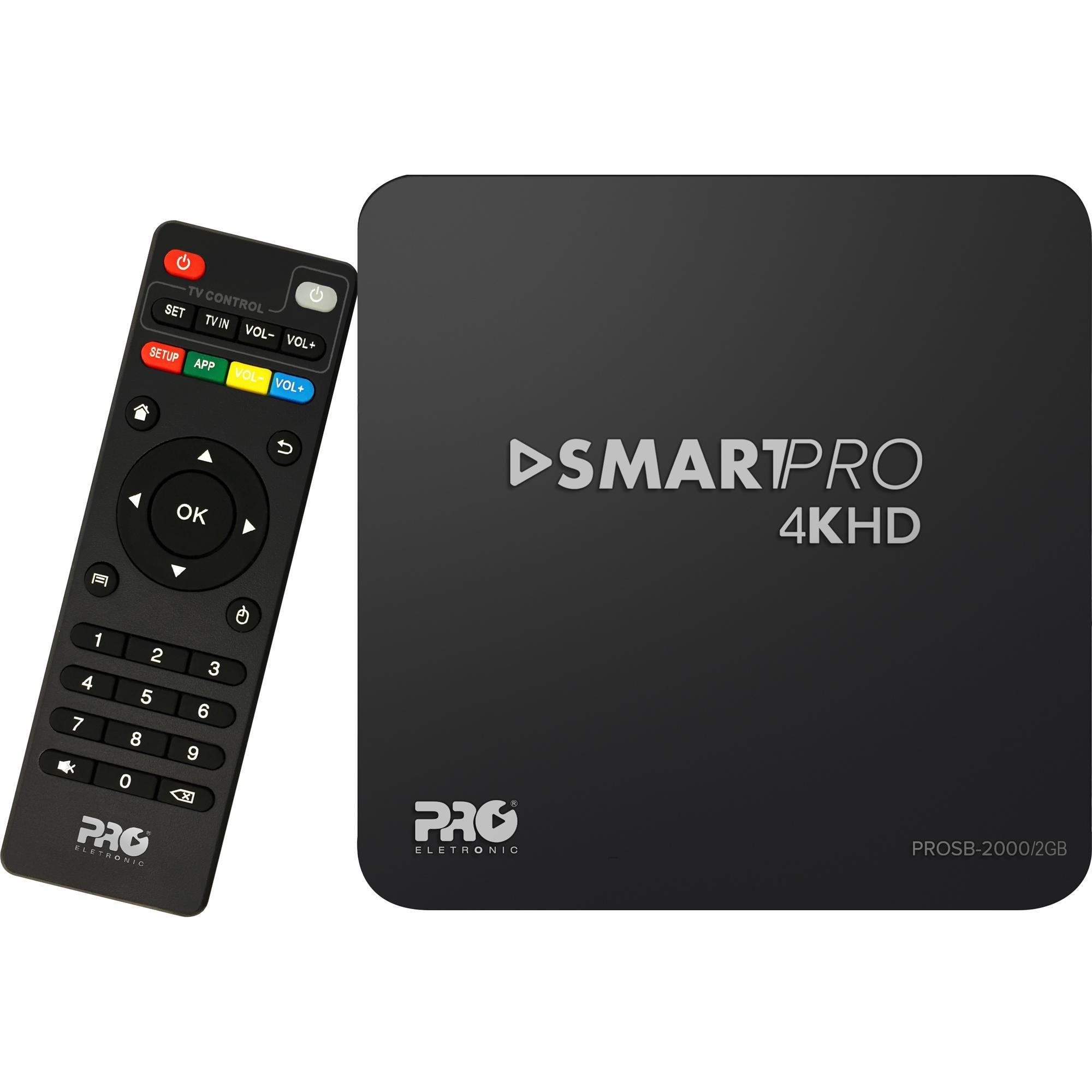 Smart TV Box Android 2GB PROSB-2000/2GB Preto PROELETRONIC