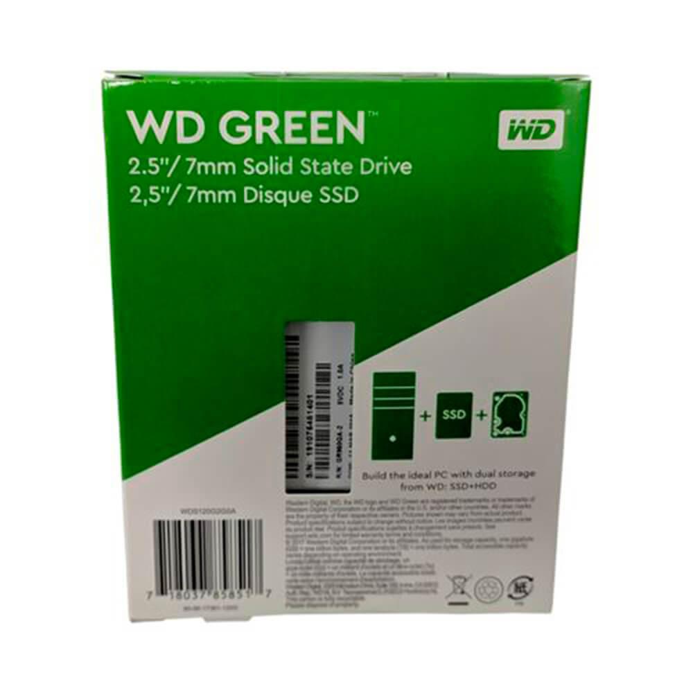 SSD WD 240GB Green Sata3 2,5 7MM WDS240G2G0A