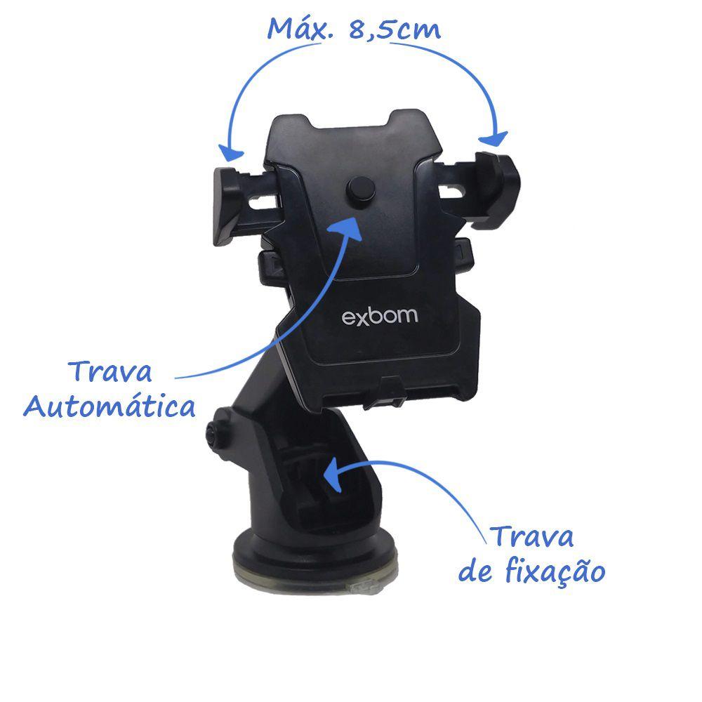 Suporte Veicular Exbom SP-62 para Celular GPS