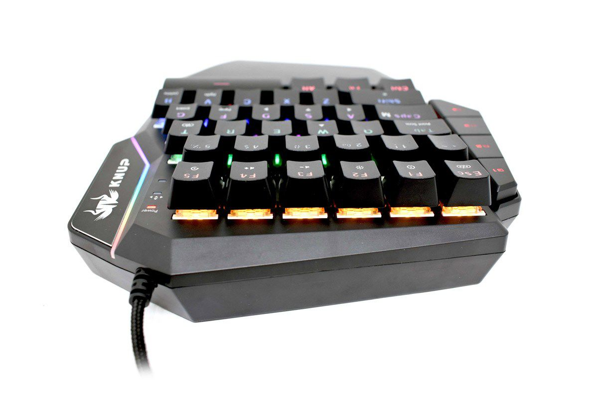 Teclado Knup Gamer Single Hand KP-2053 LED