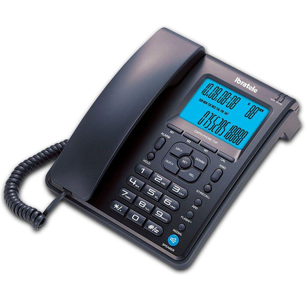 Telefone Bright Ibratele Capta Phone Top Preto, Identificador, Viva Voz 0457