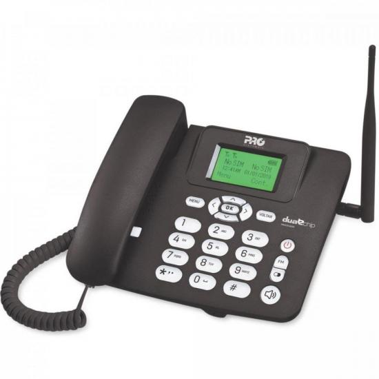 Telefone Celular Fixo Quad Band Dual Chip PROCD-6020 Preto PROELETRONIC