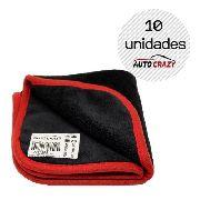 Kit 10 Panos De Microfibra 600gr/m² 29x29cm Auto Crazy