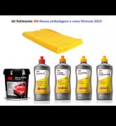 Kit 3m Polimento Nova Massa Polir Diamante + Polidores