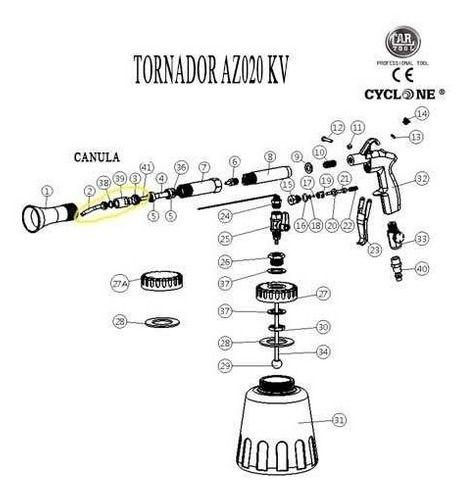 Canula Peça Reposição Tornador Modelo Az020kv