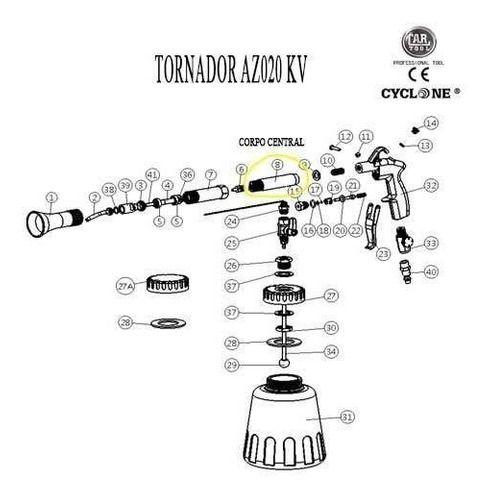 Corpo Central Peça Reposição Tornador Az020kv