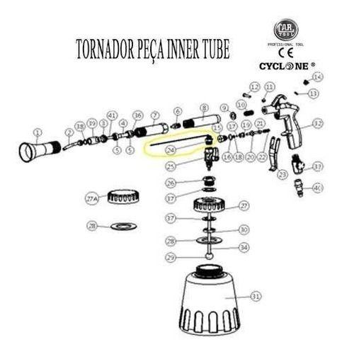Inner Tube (cabelinho) Peça Reposição Tornador
