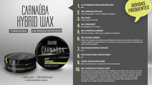 Cera Automotiva Carnaúba Hybrid Wax 200g Vonixx