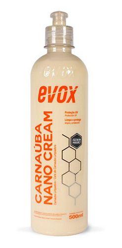Cera Limpadora E Protetora Carnaúba Nano Cream 500ml Evox