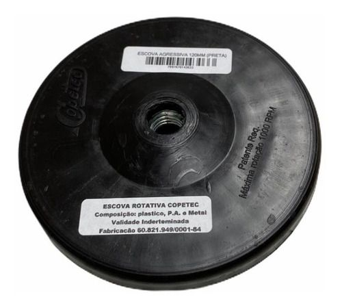 Escova Agressiva 14mm Rotativa Copetec Preta