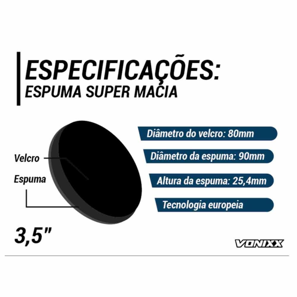 Boina de Espuma Lustro 3,5'' Voxer Vonixx