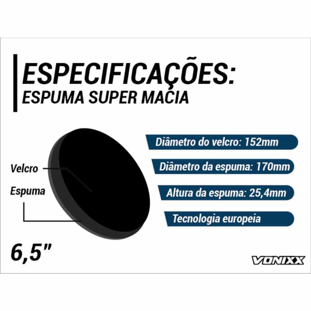 Boina de Espuma Lustro 6,5'' Voxer Vonixx
