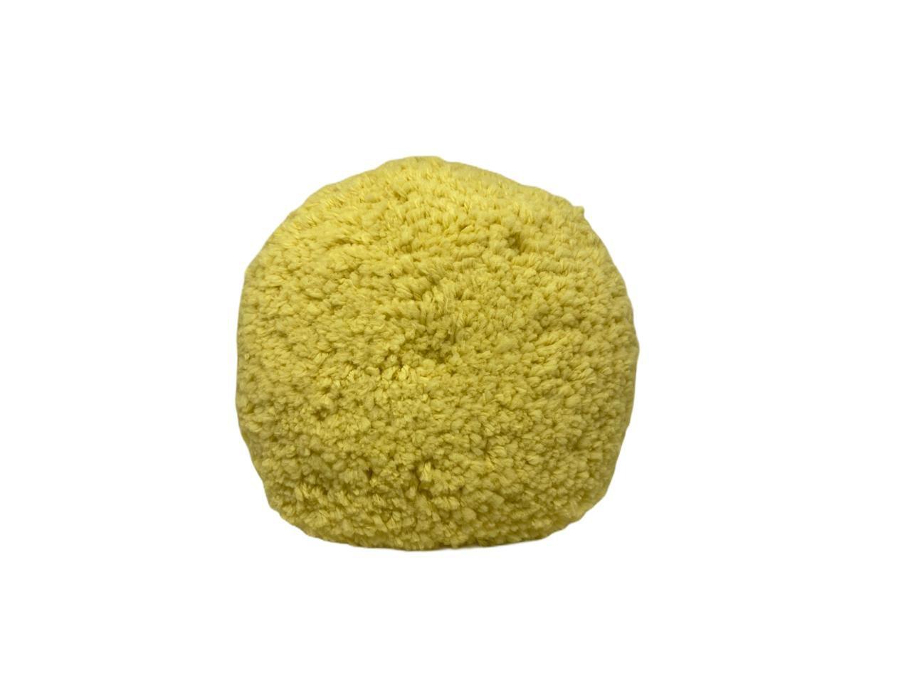 Boina Dupla Face Amarela Macia Polimento 8'' Lincoln