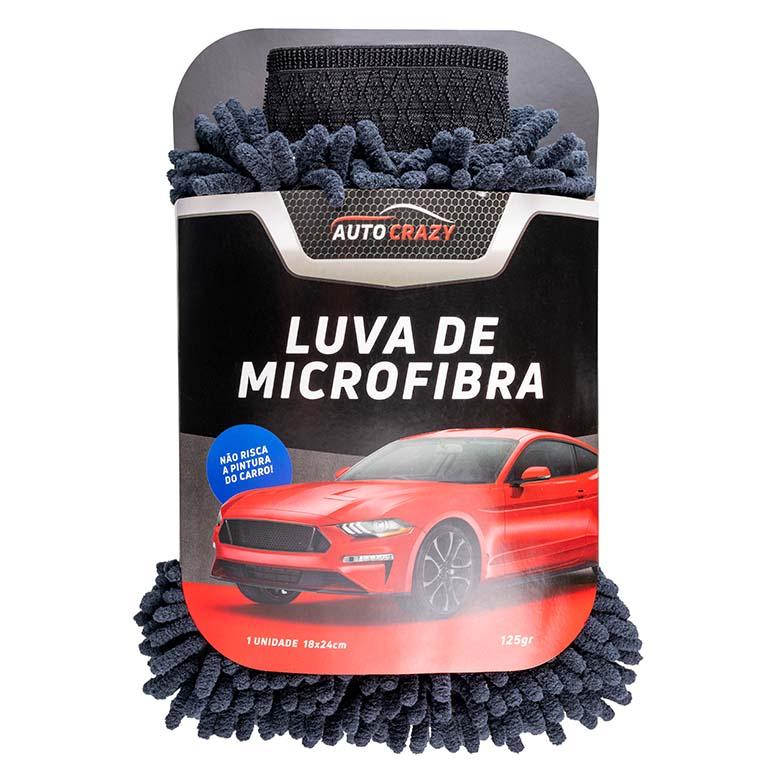 LUVA DE MICROFIBRA BLACK AUTO CRAZY