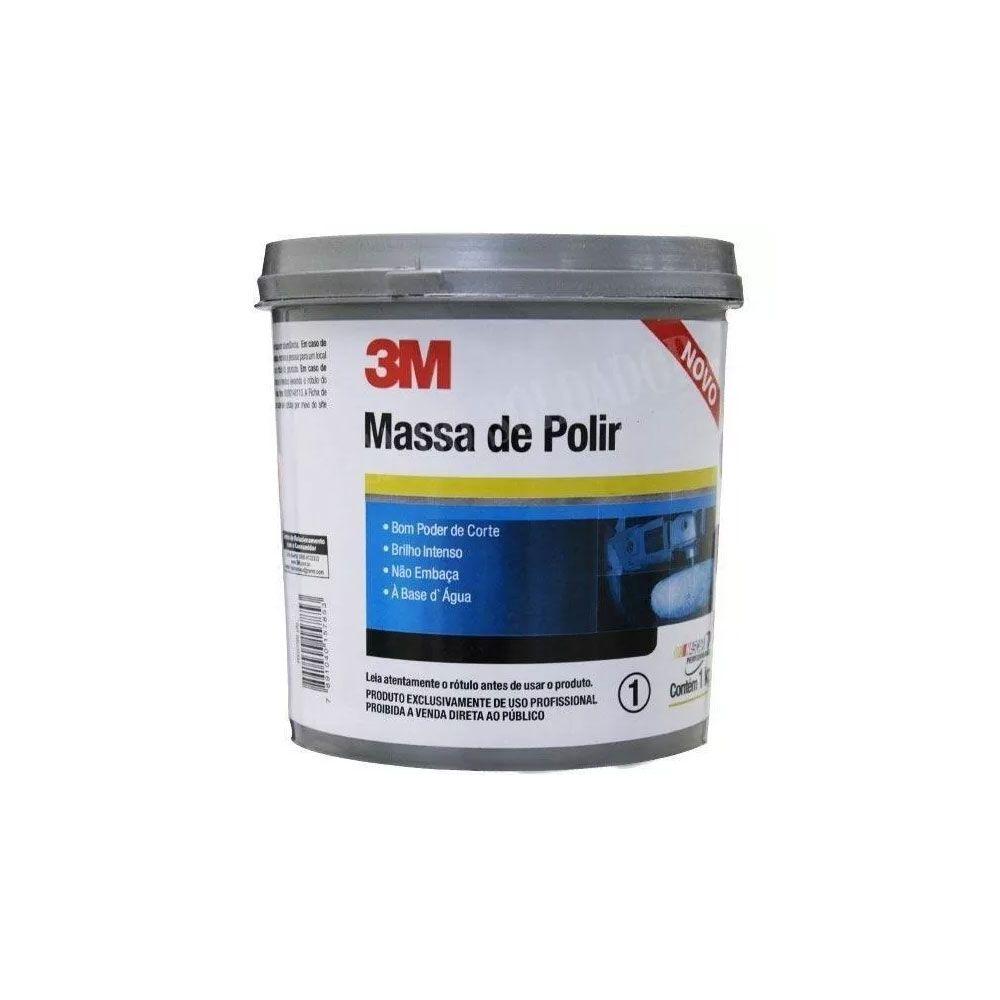 Massa de Polir Cinza 1kg 3M