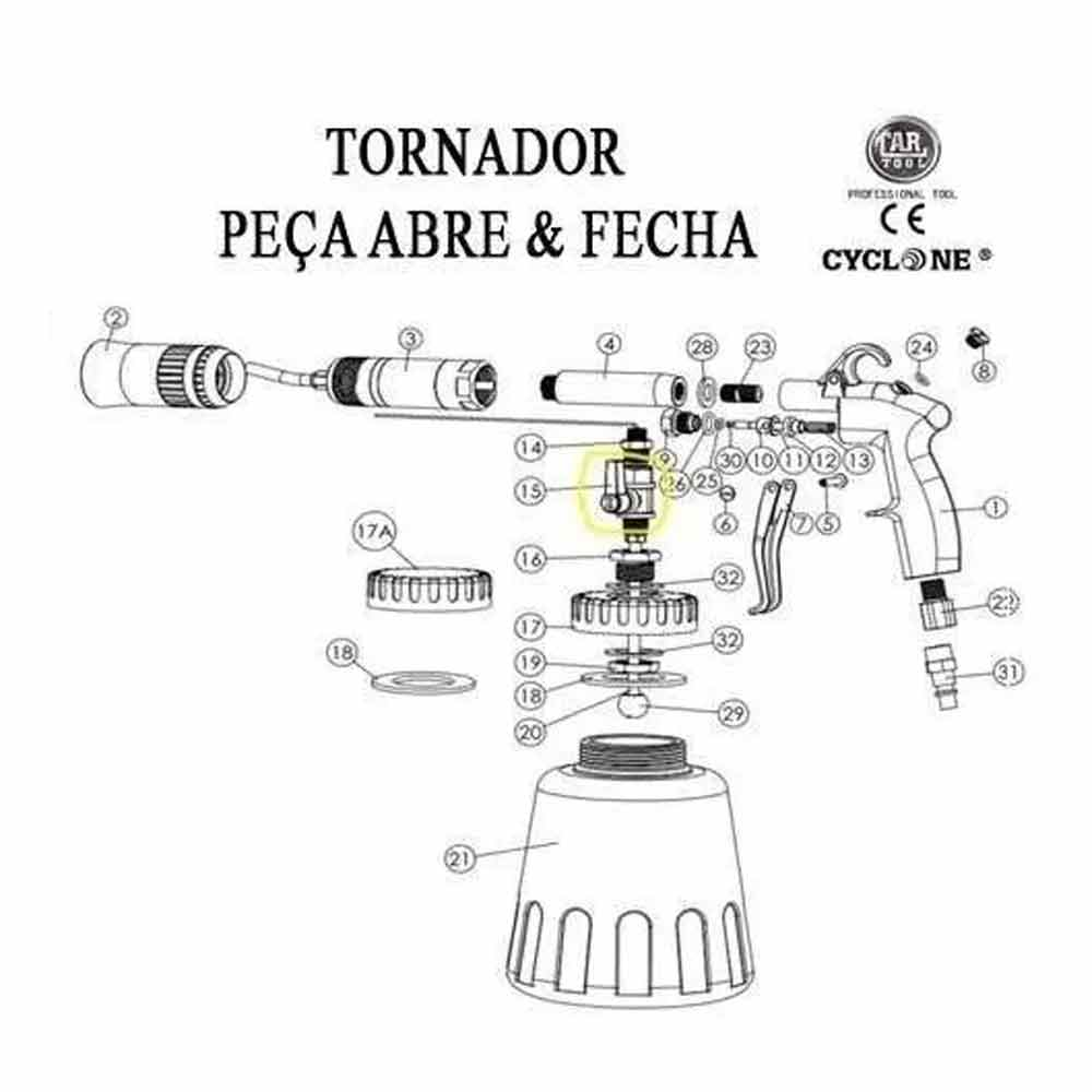 Tornador Peça Abre e Fecha Cartool