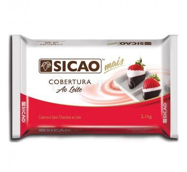10 unidades cobertura Sicao Ao leite 2.1kg