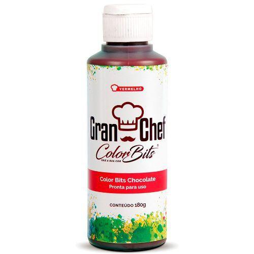 Color Bits Gran Chef Chocolate Vermelho 180g
