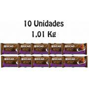 10 Unidades De Chocolate Sicao Gold Meio Amargo 1,01kg