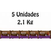 5 Unidades De Chocolate Sicao Gold Meio Amargo 2,1kg