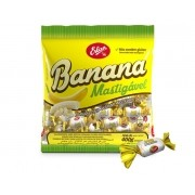 Bala Mastigável Banana 400g - Erlan
