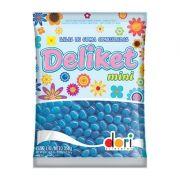 Balas De Goma Confeitada Deliket Mini Azul Claro 350g - Dori