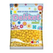 Balas De Goma Confeitada Deliket Mini Amarelo 350g - Dori