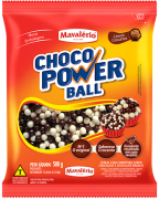 Choco Power Ball Sabor Chocolate E Chocolate Branco 500g - Mavalério