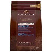 Chocolate Origens Amargo Kumabo (80,1% CACAU) Gotas 2,5KG - Callebaut