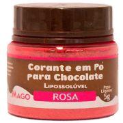 Corante Em Pó Para Chocolate Lipossolúvel Rosa 5g - Mago