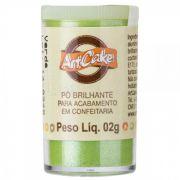 Pó Brilhante Para Acabamento Art Cake Verde 2g
