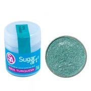 Pó Para Decoração Azul Turquesa 3g - Sugar Art