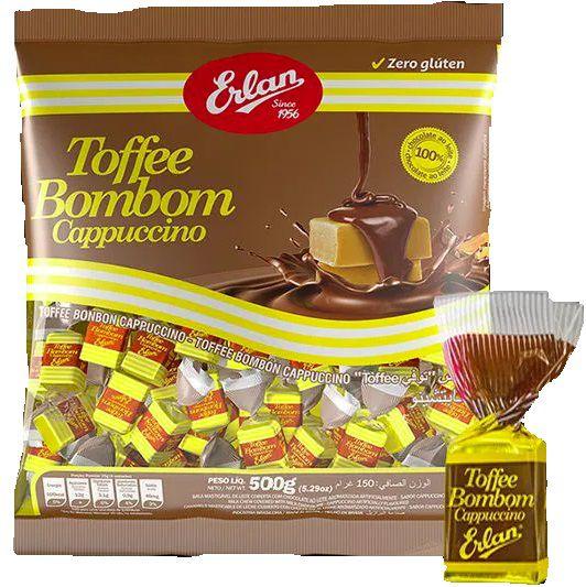 Bombom Toffee Sabor Cappuccino 500g - Erlan
