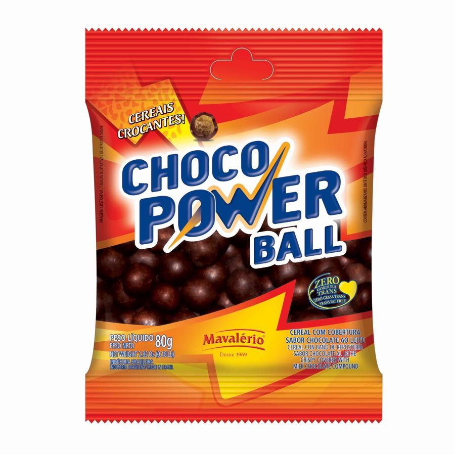 Choco Power Ball 80g - Mavalério