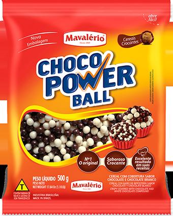 Choco Power Ball Sabor Chocolate E Chocolate Branco 500g - Mavalério