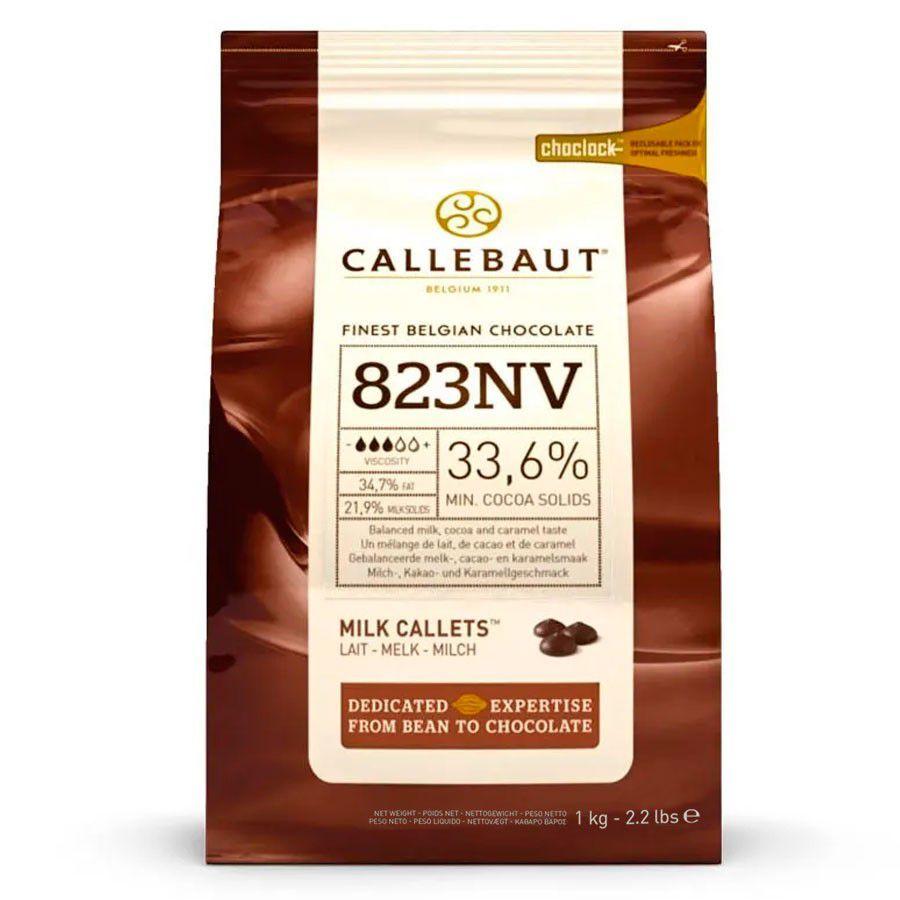 Chocolate Ao Leite Em Gotas n°823 33,6% Cacau 1kg - Callebaut