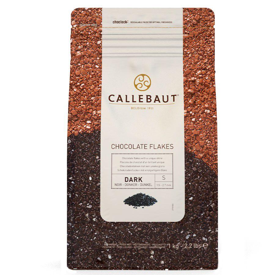 "Flocos De Chocolate Amargo ""S"" 1kg (Split-4D-BR-U73) - Callebaut"