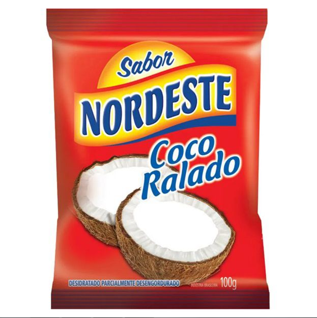 Coco Ralado Desidratado 100g - Sabor Nordeste