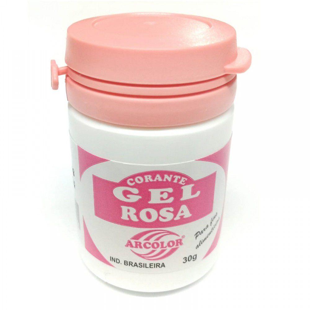 Corante Gel Rosa 30g - Arcolor