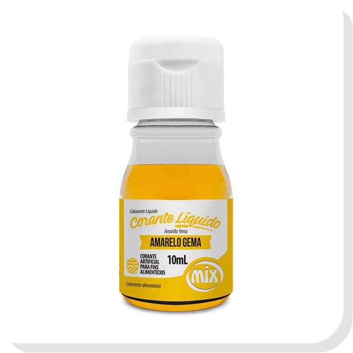 Corante Líquido Amarelo Gema 10ML - Mix