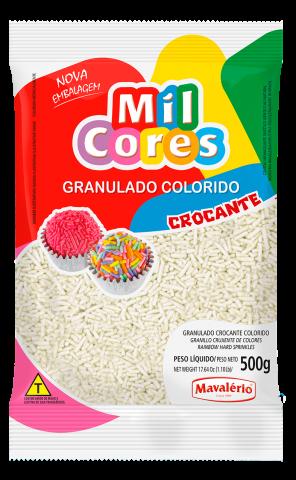 Granulado Crocante Mil Cores Mavalério 500g - Branco