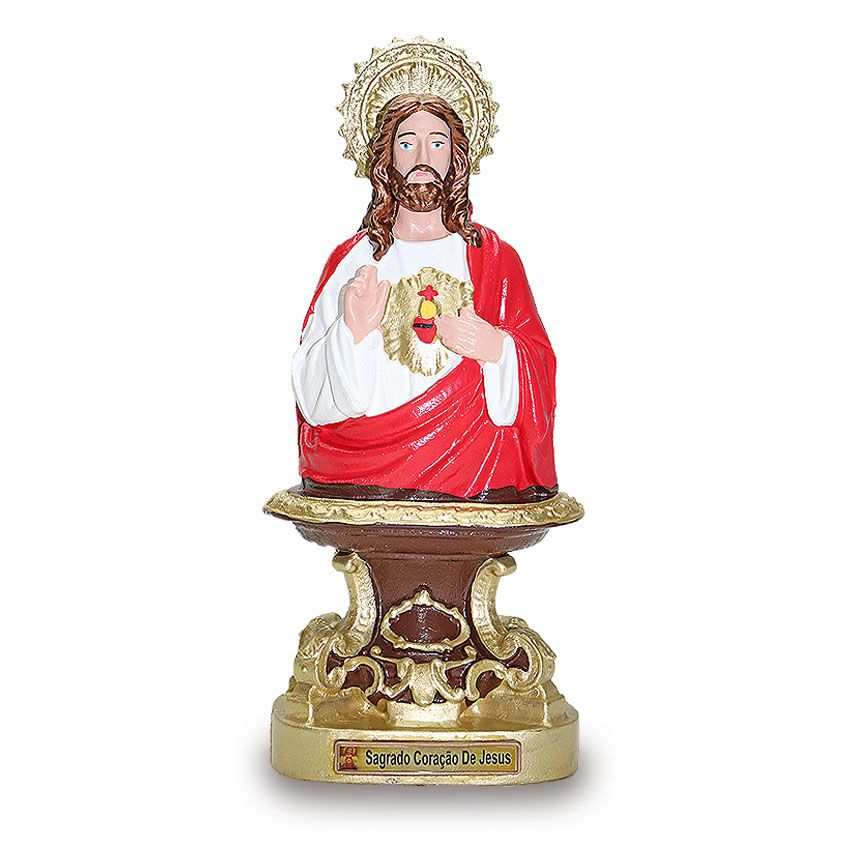 Imagem Sagrado Coração de Jesus PVC 25cm