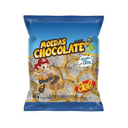 Moedas Sabor Chocolate - Bel
