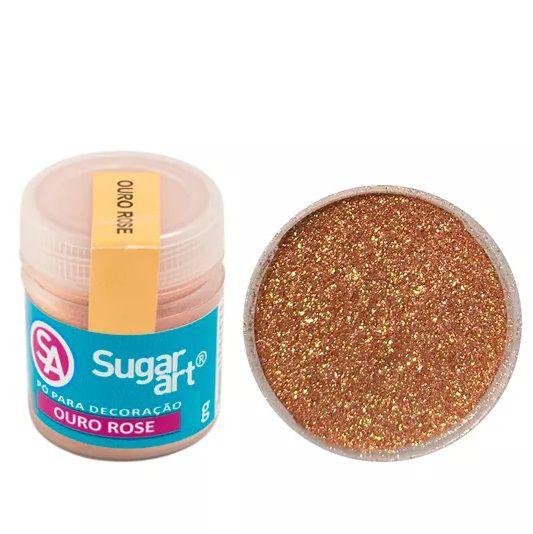 Pó Para Decoração Ouro Rose 3g - Sugar Art